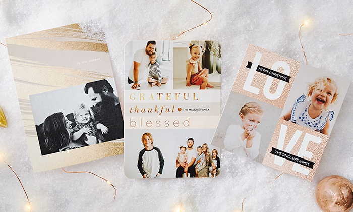 up to 58 off on flat or foil square cards groupon goods