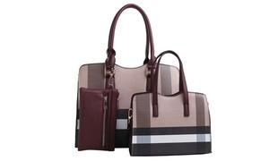 Gwen Plaid Handbag Set (3-Piece)