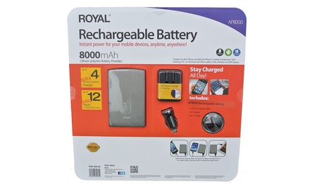 Royal 8,000mAh Rechargeable Backup Battery with Cable at Acedepot