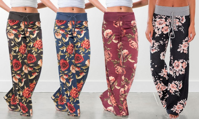 Up To 60% Off on Women\'s Floral Pants (S-3X) | Groupon Goods