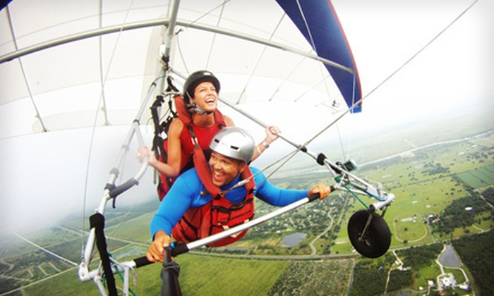 Miami Hang Gliding - The Florida Ridge Sports Air Park: $89 for a Tandem Discovery Flight Experience with T-Shirt and Park Entry from Miami Hang Gliding in Clewiston ($199 Value)