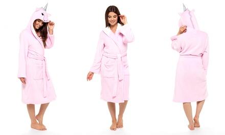 Women's Unicorn Hooded Bathrobe