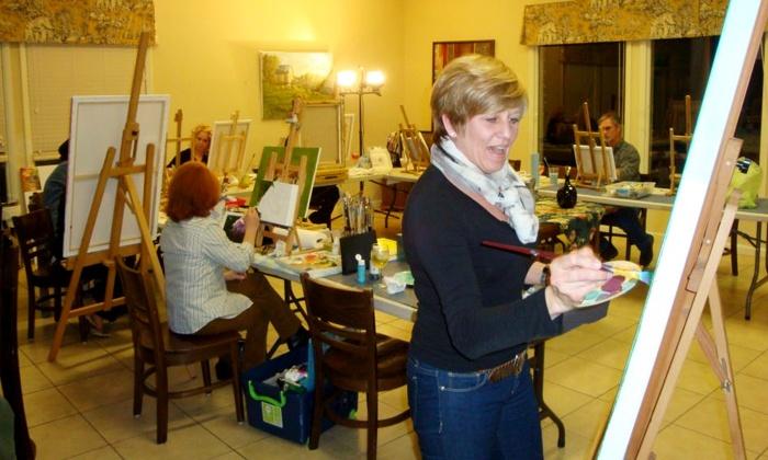 Café Elie - Cornelius: BYOB Sip & Sketch Painting Class for One or Four at Café Elie (58% Off)