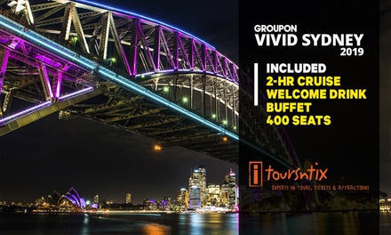 2-Hr Vivid Cruise with Buffet and Drink: Child (From $42) or Adult Ticket (From $55) with iToursntix (Up to $130 Value)