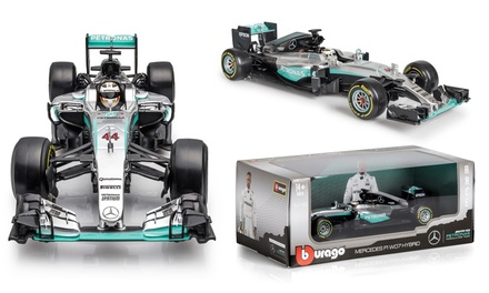 Bburago 1:18 Mercedes F1 Lewis Hamilton DieCast Model