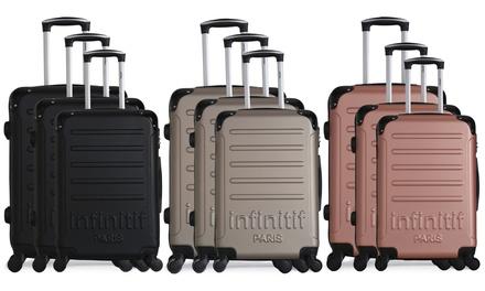 Set 3 valises Infinitif en ABS, collection Horten A