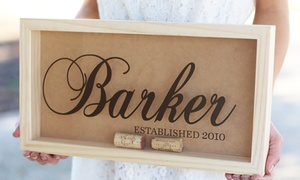 Morgann Hill Designs: Small, Medium, or Large Personalized Cork Keeper from Morgann Hill Designs (Half Off)