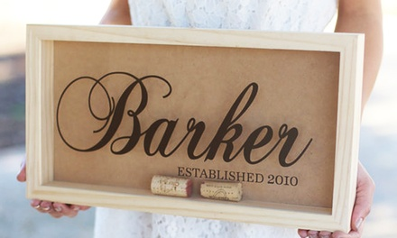 Small, Medium, or Large Personalized Cork Keeper from Morgann Hill Designs (Half Off)