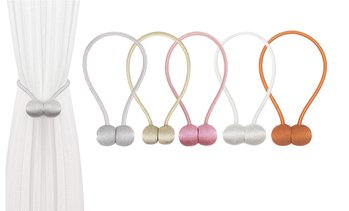 Magnetic Ball Curtain Tieback Set