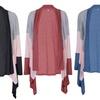 Women's Tri-Color Cardigan