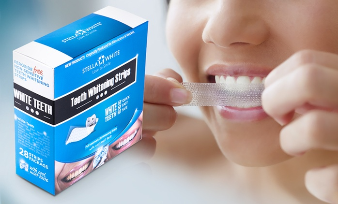 Pack of 28 Stella White Teeth Whitening Strips from £9.98 (86% Off)