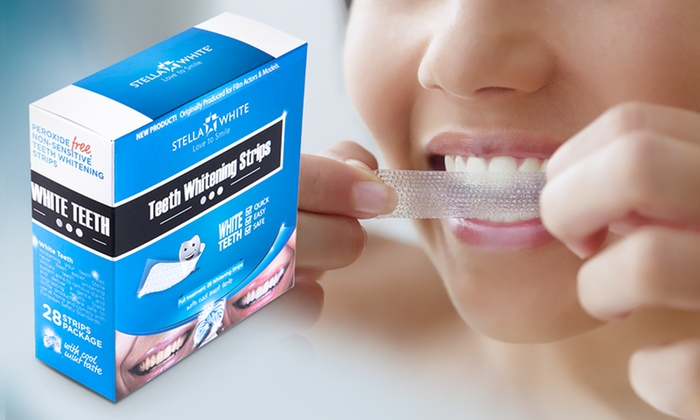 Groupon Goods Global GmbH: Pack of 28 Stella White Teeth Whitening Strips for £12 (Up to 86% Off)