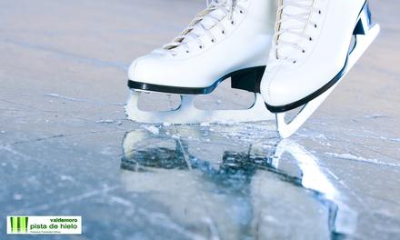 Acceso a la Pista de Hielo de Valdemoro para 2 o 4 con alquiler de patines (descuento del 45%)