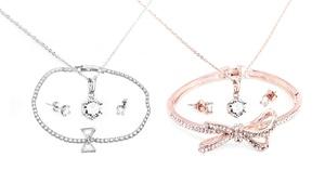 Parures de bijoux ornées de cristaux Swarovski®