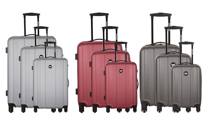 Three-Piece ABS River Bagstone Suitcase Set for £69.98 With Free Delivery