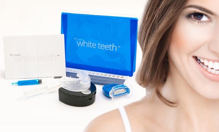 1 ou 2 kits premium de blanchiment dentaire 9 pièces à lumière LED sans peroxyde, dés 9,99€