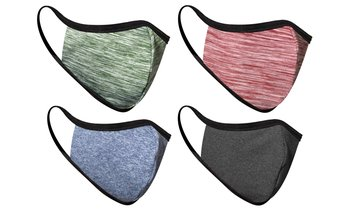 4-Pack Non-Medical Reusable Fabric Face Masks (Multiple Options)