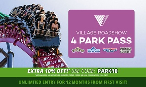 Village Roadshow Theme Parks: $169 for 12 Month Unlimited Entry to Warner Bros. Movie World, Sea World, Wet'n'Wild Gold Coast + Paradise Country
