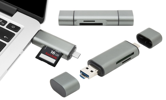 One or Two Micro-USB Adapters with Optional SD Card
