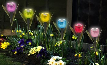 Tulip-Shaped Garden Solar Lights