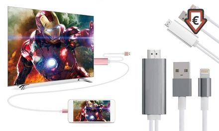 1 ou 2 câbles HDMI pour iPhone et iPad d'Apple