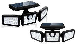 Projecteur solaire LED à 3 têtes