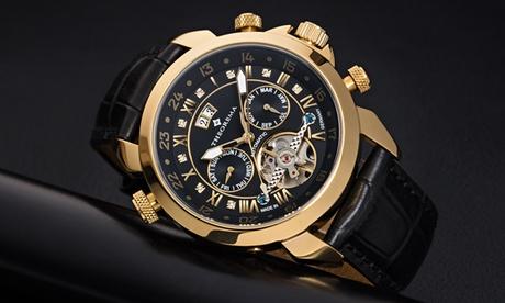 Relojes Marco Polo de la marca Theorema con correa de cuero auténtico o de acero inoxidable