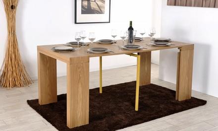 Tavolo Allungabile 4 Metri.Consolle Tavolo Allungabile Fino A 3 Metri Disponibile In 4 Colori