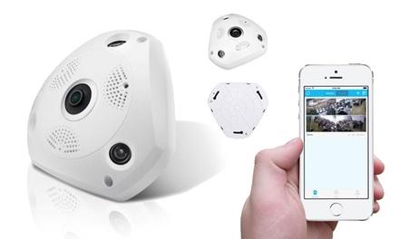 HD-Überwachungskamera mit WiFi, 360-Grad-Sicht und Fischaugenobjektiv inkl. Versand (Berlin)