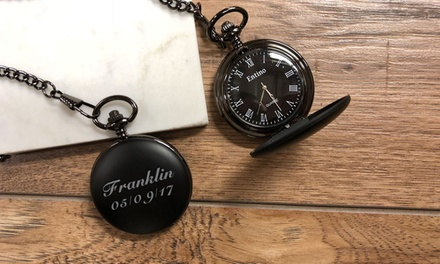 Personalised Pocket Watch: One ($12) or Two ($22) (Dont Pay up to $114)