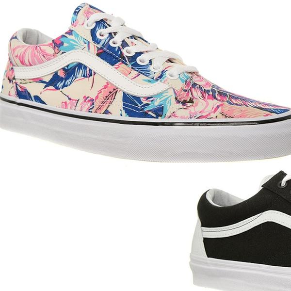 Vans Old Skool Sneakers für Damen und Herren in Schwarz oder Tropical Muster