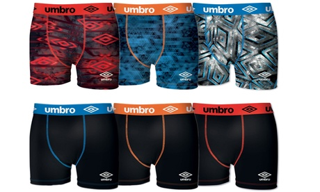Pack de 6 boxers Umbro sélection aléatoires en coton ou microfibres