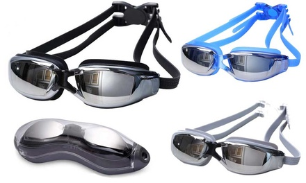 UV-Protected Swimming Goggles