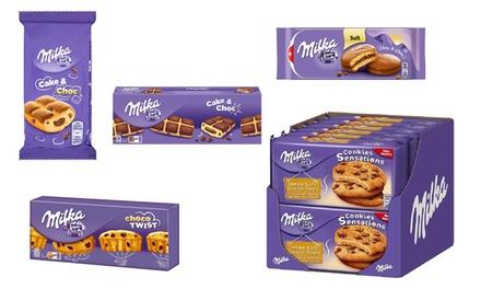 Pak van 10, 12, 16, 18 of 24 Milka koekjes, smaak naar keuze