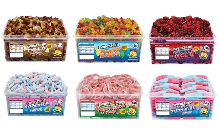 Sweetzone Halal Giant Sweet Tubs for £5.99