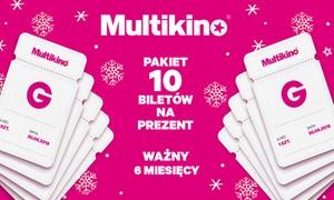 Multikino: Od 179 zł: pakiet 10 biletów na wybrany seans filmowy w kinach sieci Multikino