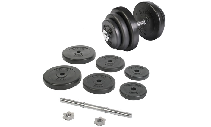Groupon Goods Global GmbH: One (€24.99) or Two (€46.99) 20kg Dumb-Bell Sets With Free Delivery (Up to 22% Off)