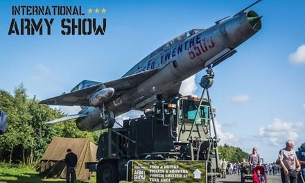 Entreeticket voor International Army Show op 1 en 2 september 2018 op vliegbasis Twenthe te Enschede