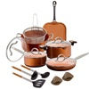 Nonstick Ceramic Cookware Set with Nylon Utensils (12- or 15-Piece)