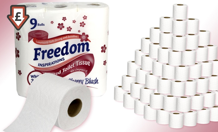 45, 90 or 135 Rolls of Cherry-Fragranced Three-Ply Toilet Paper from £10 (58% Off)