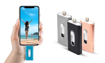 Dispositivo de memoria OTG para smartphones de hasta 128GB