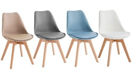 Set di 4 sedie Twist Design