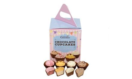 1 of 2 sets van 12 chocolade cupcakes van Martin's Chocolatier