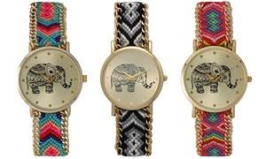 Women's Handmade Braided-Strap Elephant Watches at Women's Handmade Braided-Strap Elephant Watches, plus 6.0% Cash Back from Ebates.