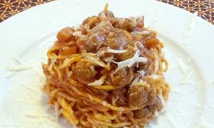 Ristorante I 5 Sensi: Menu di carne con dolce e calice di vino per 2 o 4 persone al ristorante I 5 Sensi a Castelli (sconto fino a 69%)