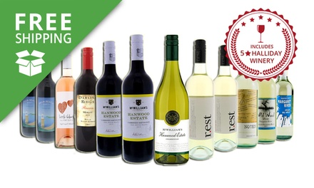 Free Shipping: $59 for a 12Bottle Mixed Case of Red and White Wine Including FiveStar Wineries Don't Pay $169