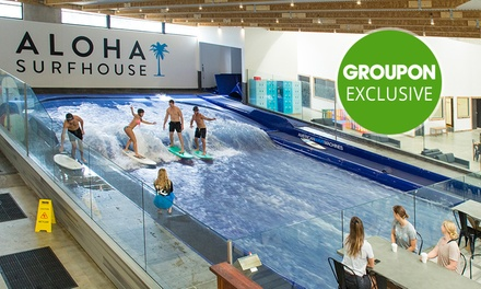 30 Minute Indoor Surfing ($33) or 60 Minute Climbing ($15) at Aloha Surfhouse (Up to $45 Value)