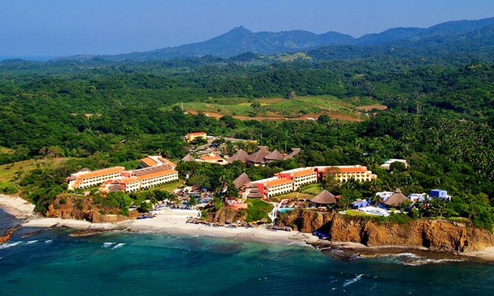 Grand Palladium Vallarta Resort & Spa Vacation with Airfare - Punta de Mita, Mexico: 4- or 7-night All-Inclusive Mexico Vacation with Airfare from Travel by Jen; Price Per Person Based on Double Occupancy