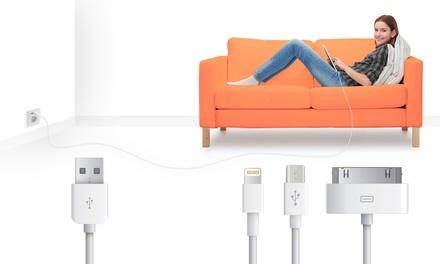 1 o 2 cables de 1 o 3 metros 30-pin, Lightningo Micro USB