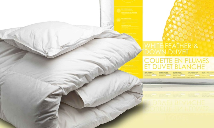 Up To 45 Off On White Feather And Down Duvet Groupon Goods